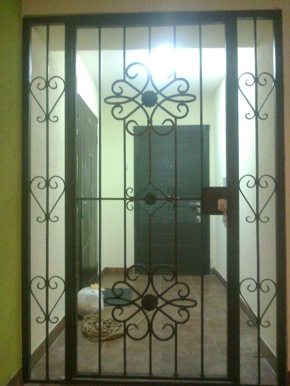 решетчатые железные двери в подъезд недорого